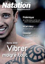 Natation Magazine n°111 - juillet 2009 - Fédération Française de ...
