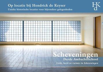 Brochure en prijzen - Vereniging Hendrick de Keyser
