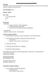 Verslag 14 mei 2013