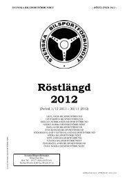 Röstlängd 2012 - Svenska Bilsportförbundet