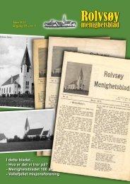 Rolvsøy menighetsblad er 100 år - Fredrikstad Domkirke