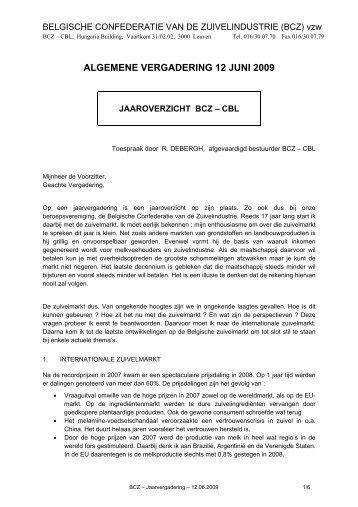 Toespraak R. Debergh - BCZ CBL
