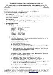 Referat af bestyrelsesmøde i Grundejerforeningen ... - Den hvide by