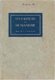 Ruler, Prof. dr. A.A. van, Overheid en humanisme