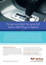 Leaflet Fiscaal voordeel bij aanschaf Volvo V60 Plug-In Hybrid