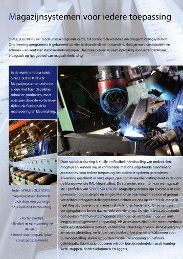Magazijnsystemen voor iedere toepassing - Space Solutions