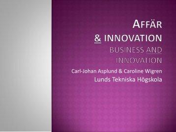Affär och innovation - Student LTH - Lunds Tekniska Högskola