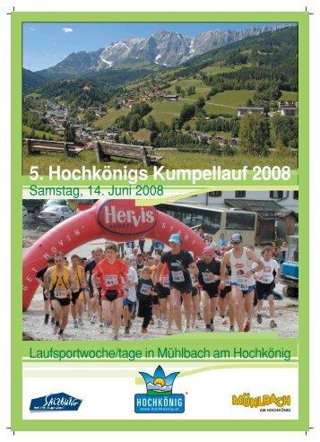5. Hochkönigs Kumpellauf 2008 - Sportclub Mitterberghuetten