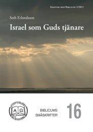 Israel som Guds tjänare - Biblicum