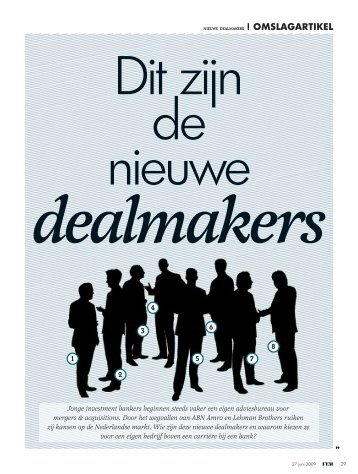 De nieuwe Dealmakers - Vondel Finance