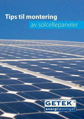 Monteringstips for solcellemoduler - getek as