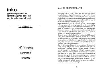 jaargang nummer 2 juni 2013 - Fraters van Utrecht