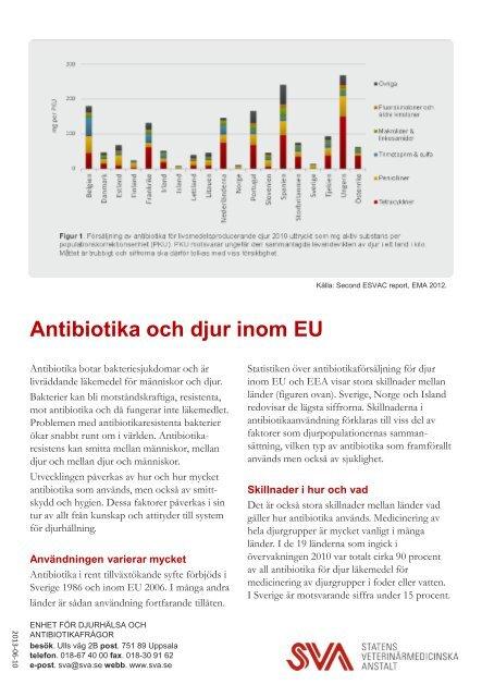 Antibiotika och djur i EU (pdf) - SVA
