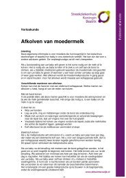 Afkolven van moedermelk - Streekziekenhuis Koningin Beatrix