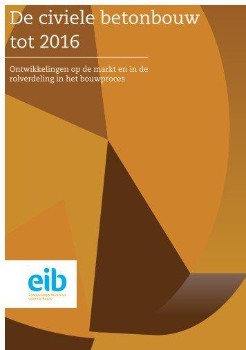 De civiele betonbouw tot 2016 - EIB