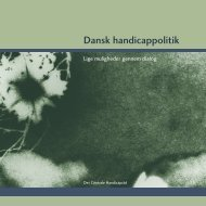 Dansk handicappolitik, pdf-version - Center for Ligebehandling af ...