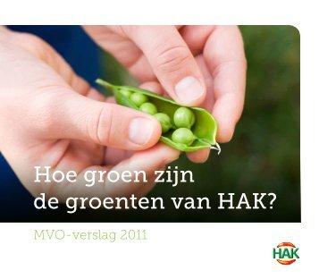 Hoe groen zijn de groenten van HAK? - PersPagina