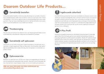 Daarom Outdoor Life Products... - Van Kooten Tuinmaterialen