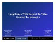 Legal Issues With Respect To Video Gaming ... - RMSC Law