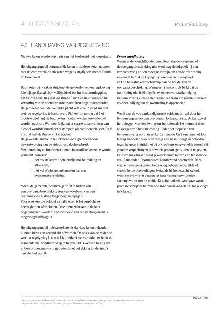 nota Keetbeleid - Fris Valley