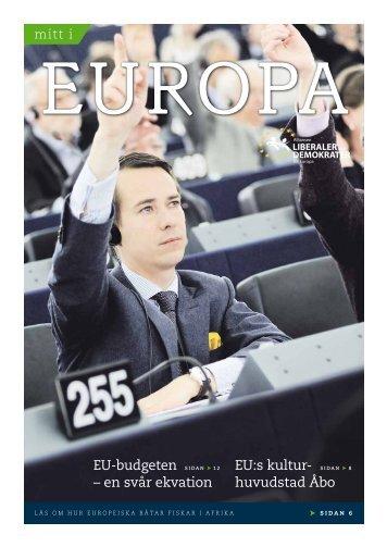 EU:s kultur- huvudstad Åbo EU-budgeten – en svår ... - Carl Haglund