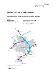 Routebeschrijving ecbo 's-Hertogenbosch