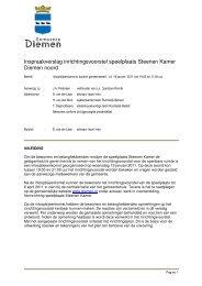 Inspraakverslag inrichtingsvoorstel speelplaats Steenen Kamer ...