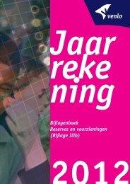 Jaarrekening 2012 Bijlagenboek Reserves en ... - Gemeente Venlo