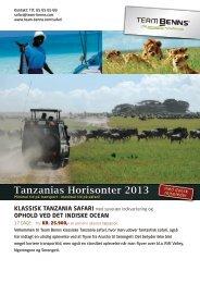 Tanzanias Horisonter 2013 - Team Benns