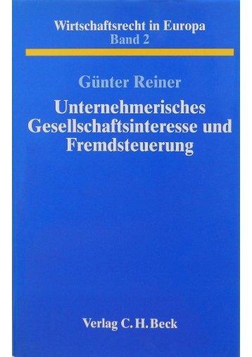 C. H. Beck - Gunterreiner.de