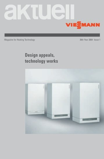 aktuell / Magazine for Heating Technology / 36th Year 2004 Issue 1