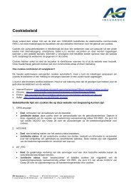 Cookiebeleid - AG Insurance
