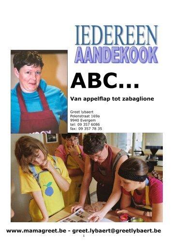 Van appelflap tot zabaglione www.mamagreet.be ... - Aan de kook