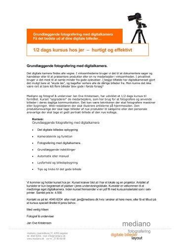 Grundlæggende fotografering med digitalkamera - mediano.dk