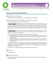 Choix des précocités de blé tendre - Chambres Poitou-Charentes