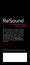 ReSound erbjuder innovativa lösningar för din hörsel där vi ...