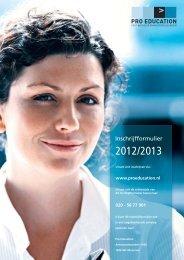 PDF Inschrijfformulier - Pro Education