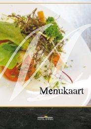 Bekijk onze menukaart - Hotel Emmen