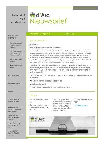 Nieuwsbrief - Autism & ADHD research center