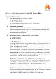 Referat fra repræsentantskabsmøde 2011 - Landsforeningen Autisme