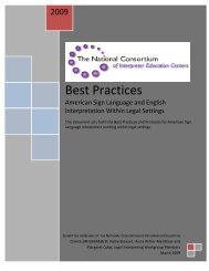 The Best Practices and Protocols - National Clearinghouse of ...