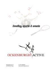 Bekijk onze online brochure - Ockenburgh Active