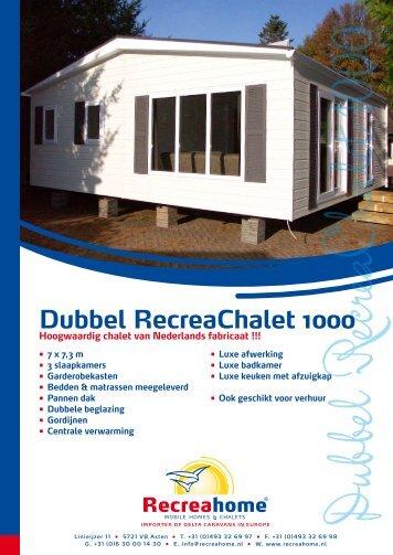 Dubbel RecreaChalet 1000 - Recreahome