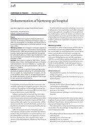 Dokumentation af hjertestop på hospital - Dansk Medicinsk Selskab