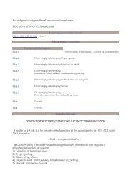 Bekendtgørelse om grundforløb i erhvervsuddannelserne ... - EVU