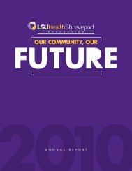 OUR COMMUNITY, OUR - LSU Health Sciences Foundation