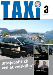 TAXI nr. 3/12 - Norges Taxiforbund