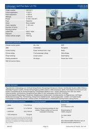 Volkswagen Golf Plus Style 1 2 l TSI 18.930 EUR