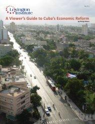A Viewer's Guide to Cuba's Economic Reform - Lexington Institute