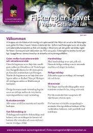 Fiskeregler i havet för Västra Götaland - Lysekils Sportfiskeklubb